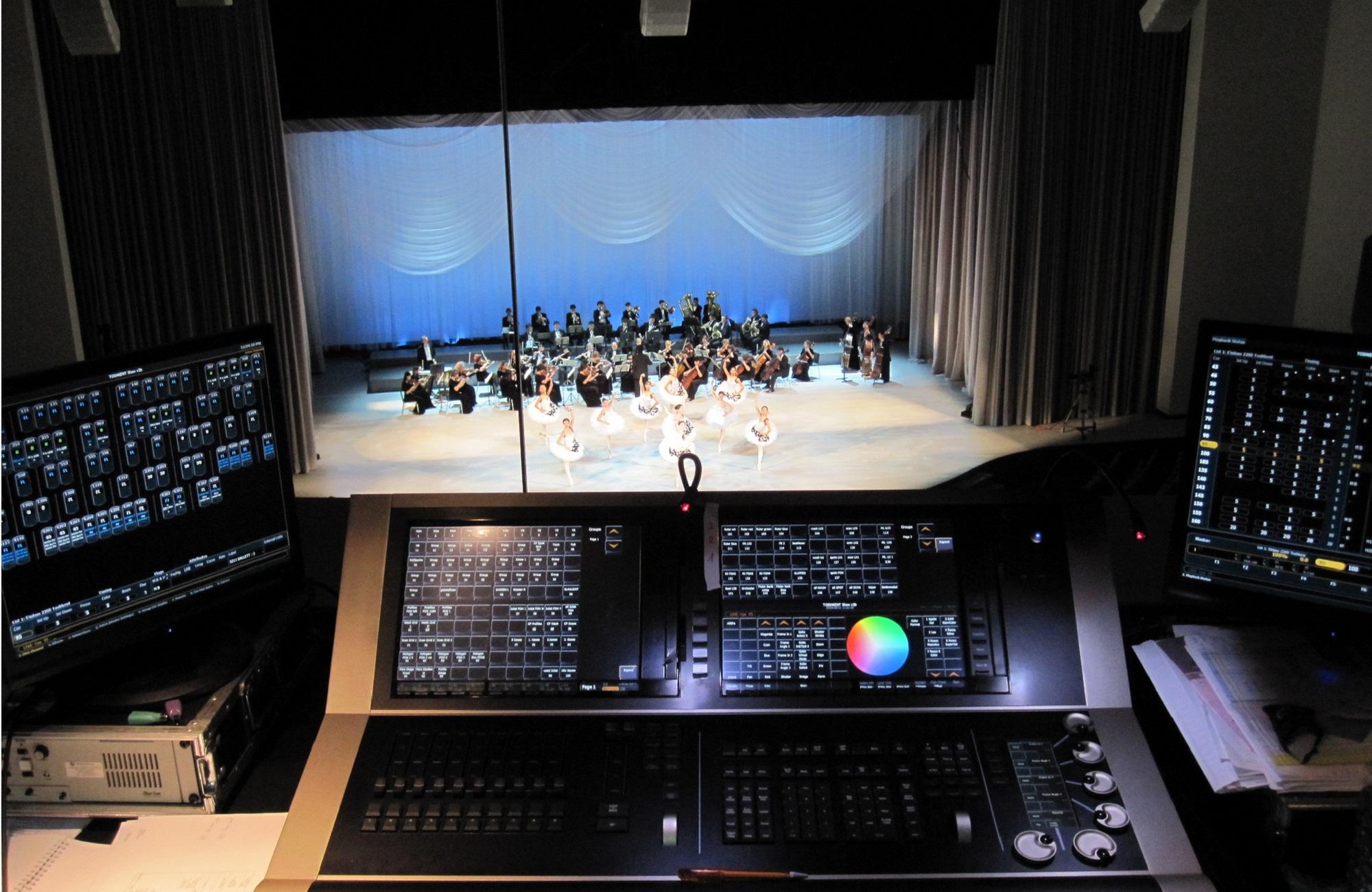 Regie der Bühnenbeleuchtung mit Beleuchtungspult